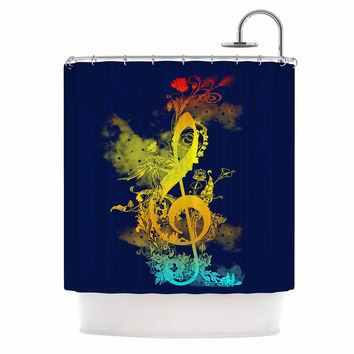 "Federic Levy-Hadida ""Sound of Nature"" Rainbow Music Shower Curtain"