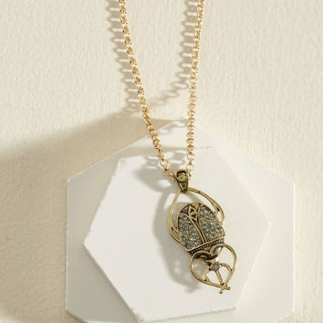March to a Different Beetle Necklace | Mod Retro Vintage Necklaces | ModCloth.com