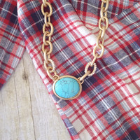 Bohemian Turquoise Necklace [7400] - $21.00 : Feminine, Bohemian, & Vintage Inspired Clothing at Affordable Prices, deloom