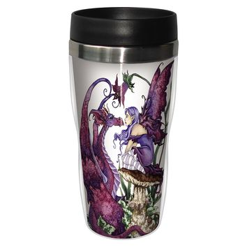 The Staring Contest Travel Mug - Premium 16 oz Stainless Lined w/ No Spill Lid