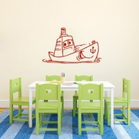 Wall Decals Vinyl Decal Sticker Boat Sail Art Design Kids Nursery Room Decor Hall Wall Chu1306