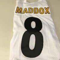 MEN'S TOMMY MADDOX #8 RETRO PITTSBURGH STEELERS AUTHENTIC WHITE REEBOK JERSEY