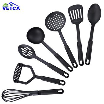New!! 7 Piece Home Kitchen Nylon Spatula Spoon Utensils Cookware