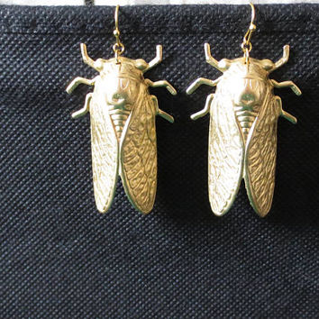 Cicada, Gold, Silver, Earrings, Birthday, Friendship, Mom, Sister, Gift, Jewelry