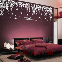 wall decal wall sticker  tree decal Kids nursery decals nature room decor baby decal birds decal  - Dream's garden