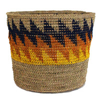 Ups and Downs Woven Storage Basket