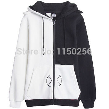 Anime DanganRonpa Black&White Bear monokuma Cosplay Costume Kawaii Jacket Coat Women Hoody Free Shipping New