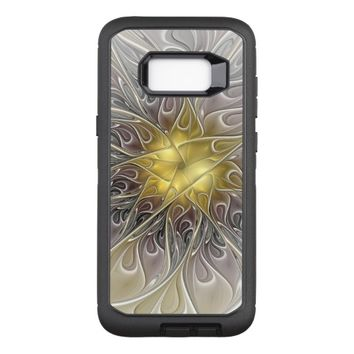 Flourish With Gold Modern Abstract Fractal Flower OtterBox Defender Samsung Galaxy S8+ Case
