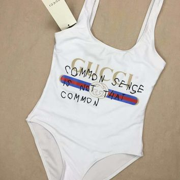 White GUCCI One Piece Swimsuits Swimwear Bikini Set GUC06