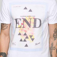ourCaste End Graphic Tee- White S