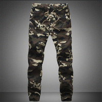 2016 Casual Men Pants Camouflage Hip Hop Army Pants Brand Quality Cool Camo Clothing Fashion Military Trousers M-5XL Men Joggers