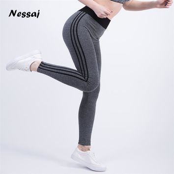 Nessaj High Quality High Waist Leggings