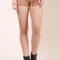 Brooklyn Karma Ellie Lace Up Shorts - Desert