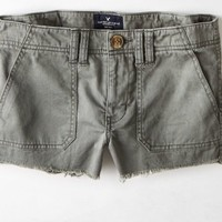 AEO Women's Military Cargo Shortie (Olive)