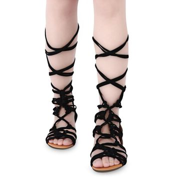 Guapabien Sexy Cross Straps Design Zipper Ladies Gladiator Sandals Summer Slippers Fla