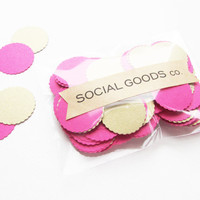 Pink & Gold Confetti | Recycled and Upcycled