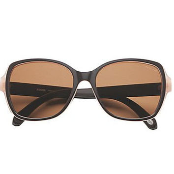 FOSSIL 55MM Two-Tone Polarized Square Sunglasses