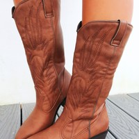 Country Girl Boots: Cognac