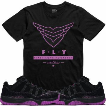 Air Jordan 11 Fuchsia Rook to Queen Sneaker Tees Shirt - FLY RK