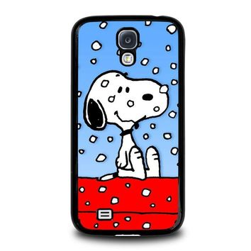 snoopy dog christmas samsung galaxy s4 case cover  number 1