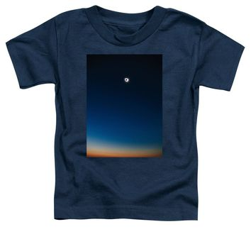 Solar Eclipse, Syzygy, The Sun, The Moon And Earth - Toddler T-Shirt