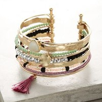 Franceza Cuff by Anthropologie in Turquoise Size: One Size Bracelets