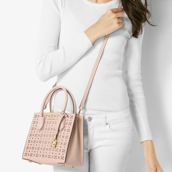 Mercer Perforated Leather Crossbody | Michael Kors