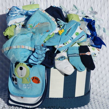 Baby Boy SUPREME Gift Basket, Baby Boy Gift Basket, Baby Boy Shower Gift, Baby Shower Gift, Newborn Boy Gift Basket