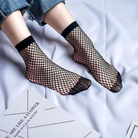 Chic Streetwear Women's Harajuku Candy Color Breathable Fishnet Socks Sexy Hollow out Nets Socks Ladies Sweet Mesh Sox Dropship