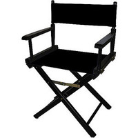 "Walmart: Director's Chair 18"", Black Wood Base with Multiple Seat Color Choices"