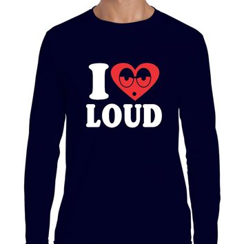 Artix I Love Loud Weed 420 Fashion People Pot Marijuana Couples Best Friend Gifts Long Sleeve Men T-Shirt