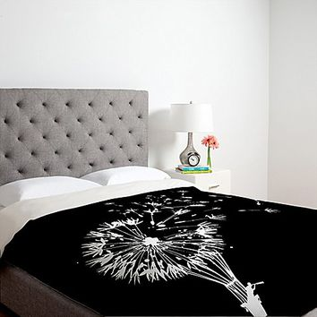 DENY Designs Budi Kwan Going Where the Wind Blows Duvet Cover in Black