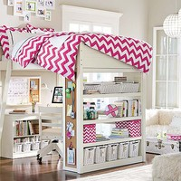 Sleep & Study Chevron Bedroom
