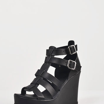 Chunky Gladiator Wedges