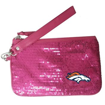 Denver Broncos NFL Stat Pink Girls Wrislet (5 1/2 x 8 1/2 inches)