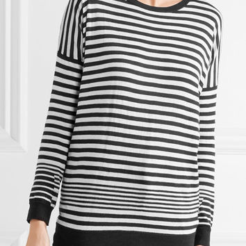 Vince - Striped cotton, silk and cashmere-blend sweater