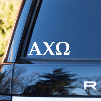 Alpha Chi Omega Car Decal | Alpha Chi Omega Car Sticker | Alpha Chi Omega Sorority | Alpha Chi Omega Laptop Decal | Greek Car Decal | 167