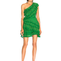 Isabel Marant Zeller Dress in Moss Green | FWRD