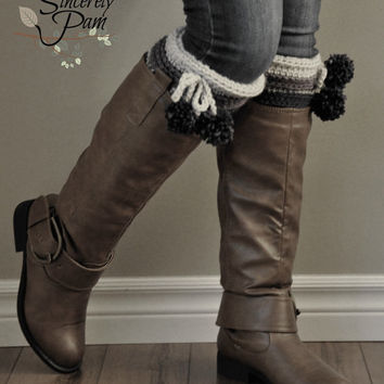 Johnny Boot Cuffs and Ear Warmer Crochet Pattern pdf
