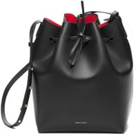 MANSUR GAVRIEL PU Leather Neverfull Bucket Purse w/ Logo