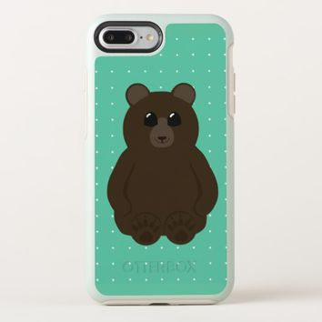 Cute Bear Drawing with Polka Dots OtterBox Symmetry iPhone 8 Plus/7 Plus Case