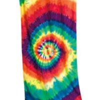 Tie Dye Beach Towel-Multi Spiral