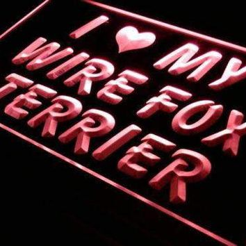 I Love My Wire Fox Terrier Neon Sign (LED)