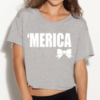 Ladies 'Merica Boxy Tee