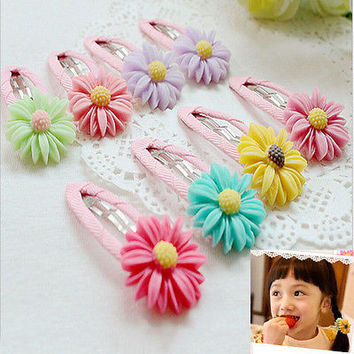 1 X Chic Baby Girls Hair Clip Hairpins Toddler Kids Flower Daisy