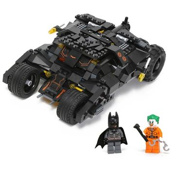 325pc Comics Hero Batman series The Tumbler car model Building Blocks classic Compatible Legoe Minifigures Toy Set