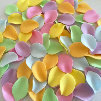 ROSE PETALS edible sugar paste flowers cake decorations toppers