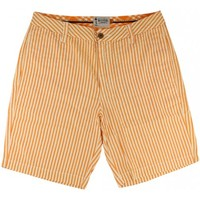 Seersucker Walking Shorts in Orange and White by Olde School Brand