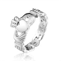 Brand Designer Ladies Claddagh Stainless Steel Skull Rings For Women 2015
