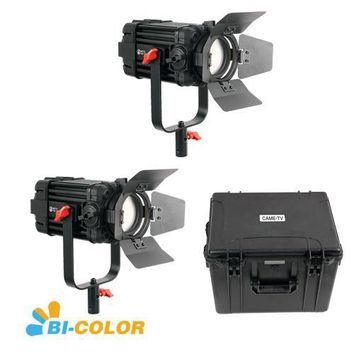 2 Pcs CAME-TV Boltzen 60w Fresnel Fanless Focusable LED Bi-Color Kit